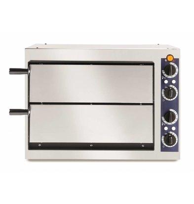 Hendi Pizzaoven Basic Dubbel 40 | RVS | 2400W | 568x430x(H)425mm