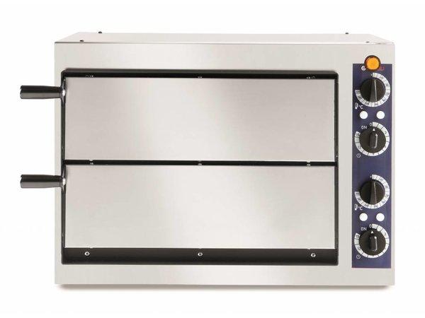 Hendi Pizza-Ofen Basic Doppel 40   Edelstahl   2400W   568x430x (H) 425mm