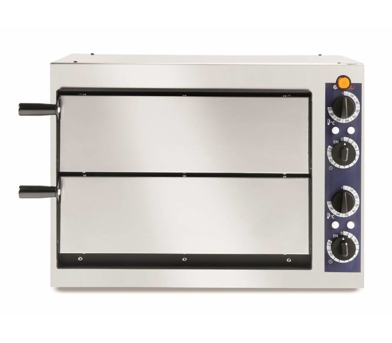 Hendi Pizza Oven Basic Double 40 | Stainless steel | 2400W | 568x430x (H) 425mm