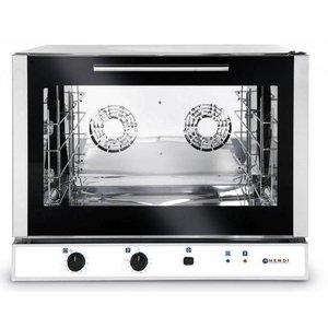 Hendi Convection Oven Bäckerei / Euronorm - Manuelle Fluidinjektion - 4 x Platten 600x400mm