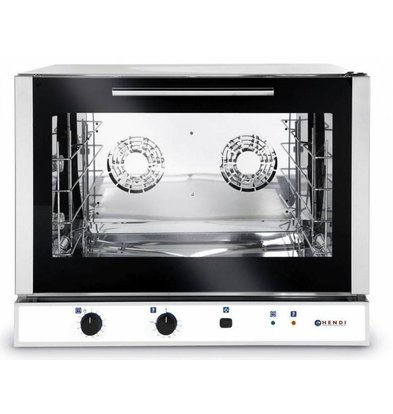 Hendi Convection Oven Bakery / Euronorm - Manual Fluid Injection - 4 x plates 600x400mm - RECOMMENDED!