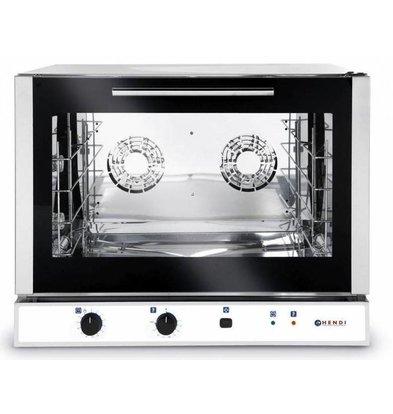 Hendi Heißluftofen Bäckerei / Euronorm - Manuelle Feuchtigkeitsinjektion - 4 x Backbleche 600x400mm - EMPFOHLEN!
