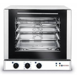 Hendi Convection Oven with Grill - 4 x 2 / 3GN Inc. - 59x70x59cm