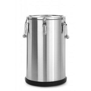 Hendi Gamel SS | isolated | 35 Liter | Ø320x (H) 550mm | 6-8 pm Food Warm Holder