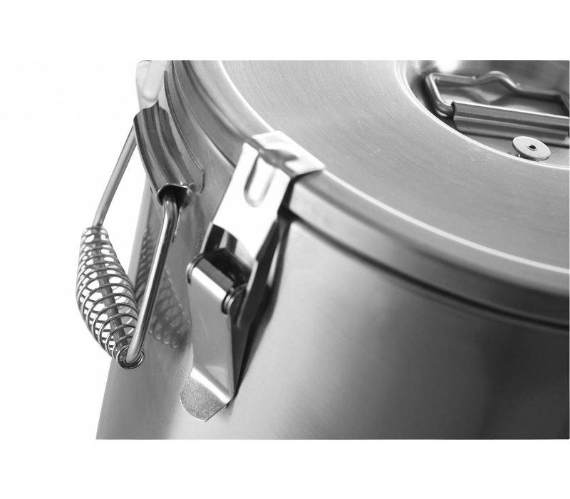 Hendi Gamel RVS | Geïsoleerd | 20 Liter | Ø320x(H)310mm