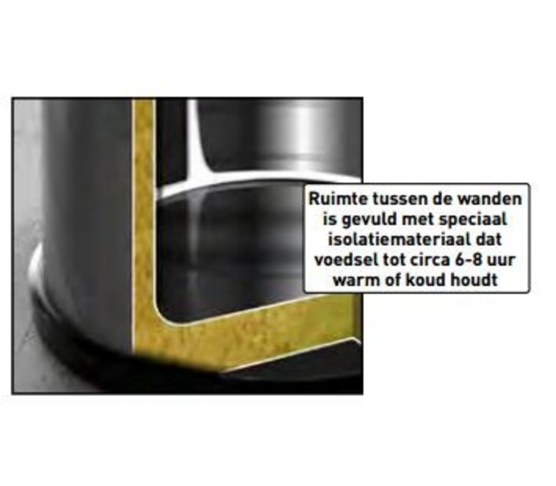 Hendi Gamel RVS | Isoliert | 10 Liter | Ø320x (H) 200 mm