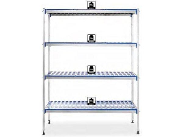 Hendi Opbergrek aluminium planken - Polypropyleen - 1280x405x1685 mm