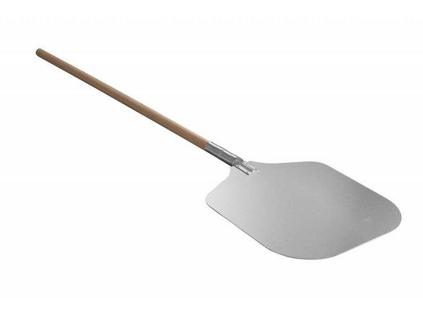Hendi Pizzaschaufel aus Aluminium Sheet - Holzgriff - 305x356x (h) 1000mm