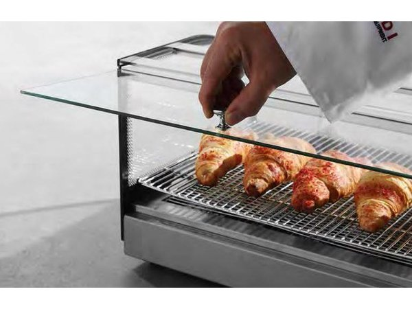 Hendi Warming Showcase stainless steel - two Roosters - 1 Slide Pane - GN 1/1 - 554x376x (h) 432mnm