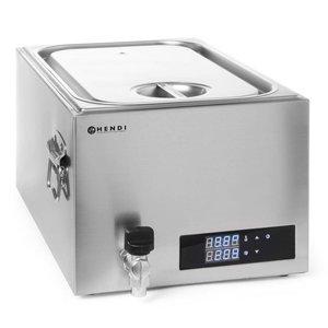 Hendi Sous-vide Bain-Marie 20 Liter - 600 W - Edelstahl - 600x330x (H) 300 mm