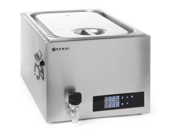 Hendi Sous-Vide Bain-Marie 20 liter - 600W - RVS - 600x330x(H)300 mm