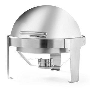 Hendi Chafing Dish Rolltop Runde | Edelstahl | 5,6 Liter | 510x540x (H) 480mm