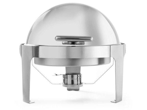 Hendi Chafing Dish Rolltop Rond | RVS | 5,6 Liter | 510x540x(H)480mm