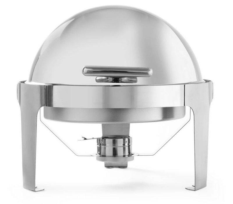 Hendi Chafing Dish Rolltop Round | Stainless steel | 5.6 Liter | 510x540x (H) 480mm