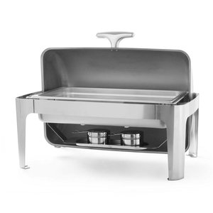 Hendi Chafing Dish Rolltop | Stainless steel | GN 1/1 | 9 Liter | 660x490x (H) 460mm