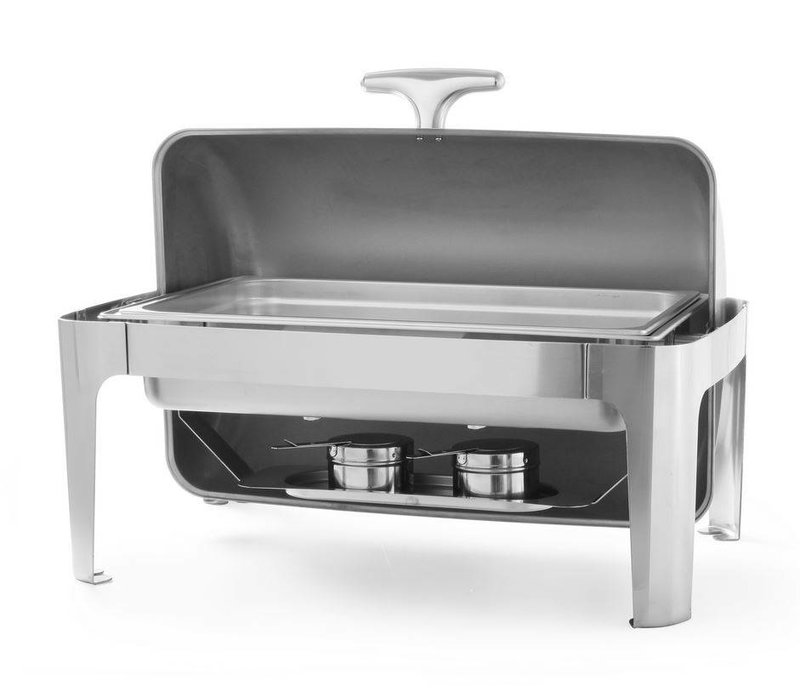 Hendi Chafing Dish Rolltop | Edelstahl | GN 1/1 | 9 Liter | 660x490x (H) 460mm
