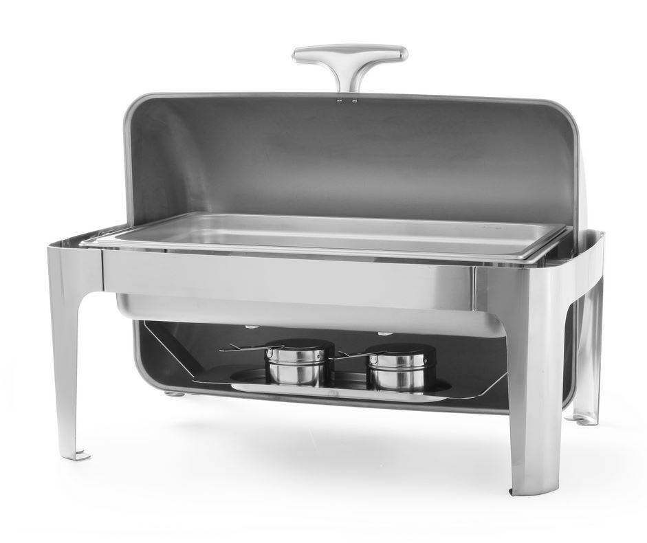 hendi chafing dish rolltop stainless steel gn 1 1 9 liter 660x490x h 460mm. Black Bedroom Furniture Sets. Home Design Ideas
