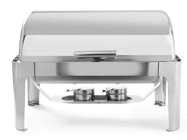 Hendi Chafing Dish Rolltop | RVS | GN 1/1 | 9 Liter | 660x490x(H)460mm