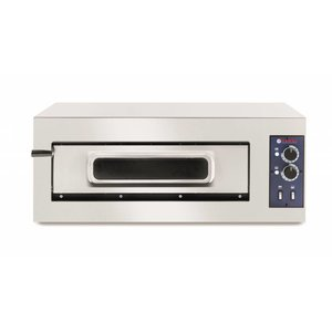 Hendi Pizzaoven Basic Enkel | RVS | 5000W | 915x690x(H)355mm