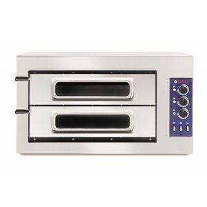 Hendi Pizza-Ofen Basic Doppel 50 Vetro | 400V | 7500W | 915x690x (H) 530mm