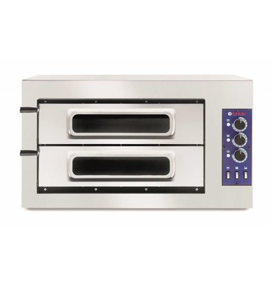 Hendi Pizza Oven Basic Double 50 Vetro | 400V | 7500W | 915x690x (H) 530mm