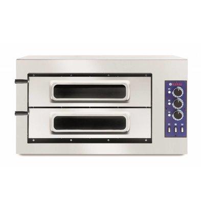 Hendi Pizzaoven Basic Dubbel 50 Vetro | 400V | 7500W | 915x690x(H)530mm