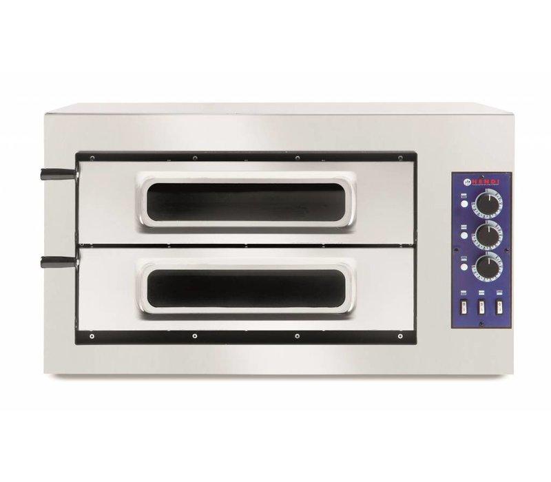 Hendi Pizza Oven Basic Double 50 Vetro | 400V | 7500W | 915x690x (H) 530mm
