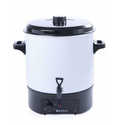 Hendi Hot Drink Boiler / Gluwijn white boiler | 27 Liter | faucet | enamelled
