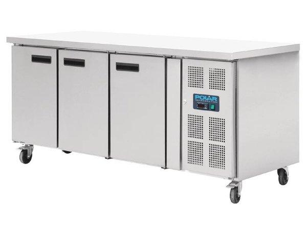 Polar Koelwerkbank 3 deurs - 634 Liter - 86x202x80cm