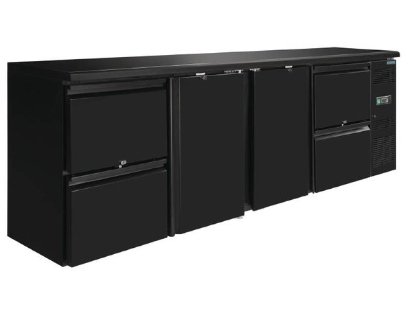 Polar Blind Drinks chiller two doors and four drawers -2542x513x (H) 860mm