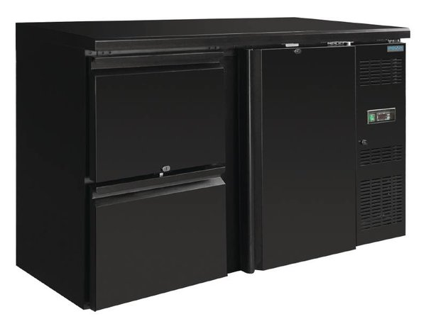 Polar Drinks chiller blind one door with two drawers - 349 Liter - 860x1462x513mm