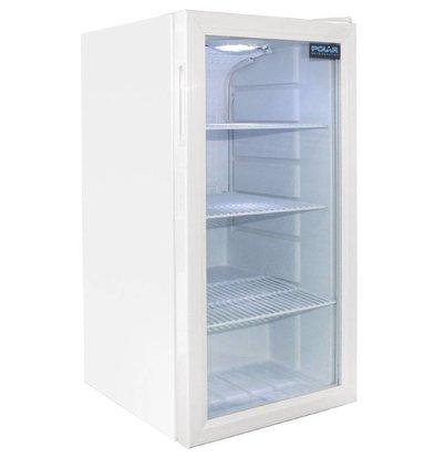 Polar Kühlschrank mit Glastür, Dosen Kühlschrank - 88 Liter - 430x480x (H) 820mm