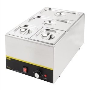 XXLselect Bain Marie | Stainless steel | 2xGN1 / 3 + 2xGN1 / 6 | 1300W | 340x540x (H) 270mm