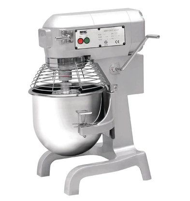 Buffalo Planet Mixer | 20 Liter | 3 Speeds | 1.1 kW | Stainless Steel Bowl | Powerful Engine | 558x558x (H) 794mm