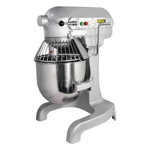 XXLselect Planet Mixer | 10 Liter | 3 Speeds | 0:55 kW | Stainless Steel Bowl | Powerful Engine | 395x395x (H) 610 mm