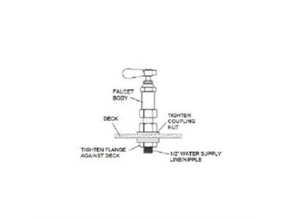 XXLselect Prepurge shower - 7 liters per minute - duobloc - Stainless steel construction - 1810x390x (H) 1100 mm