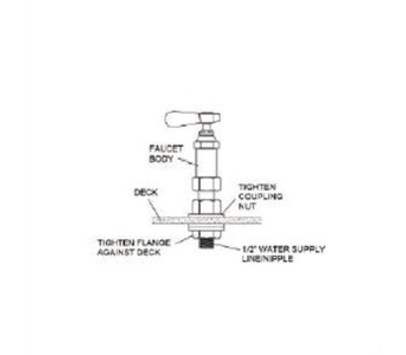 XXLselect Voorspoeldouche - 7 Liter per minuut - Duobloc - RVS Constructie - 1810x390x(H)1100 mm