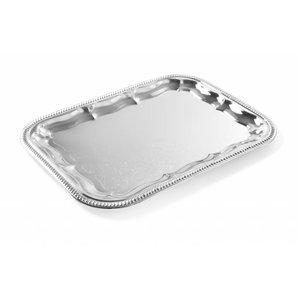 Hendi Party Platter Rectangle | Chrome | 410x310 mm