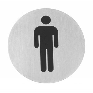 Hendi Kind Männer Edelstahltür - 75 mm