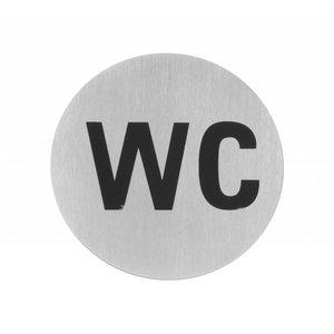 Hendi Deurschild rvs WC - 75 mm