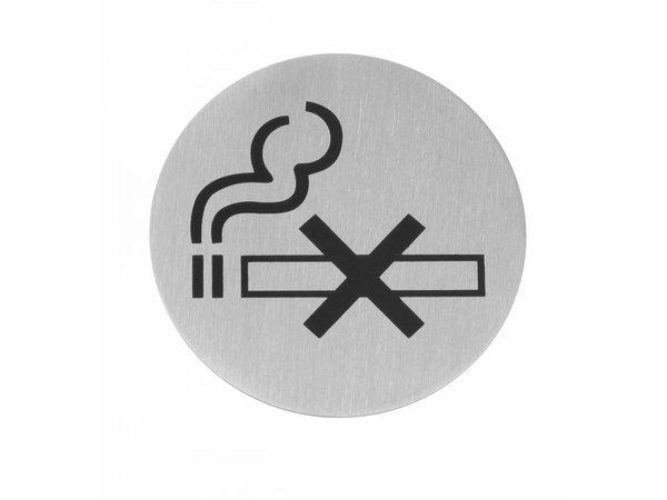 Hendi Child stainless steel door Smoking - black 75 mm