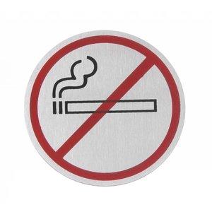 Hendi Deurschild rvs Niet Roken - zwart/rood 75 mm