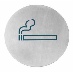 Hendi Deurschild rvs Roken - groen groot 160 mm