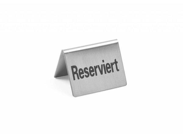 Hendi Tischständer aus Edelstahl Reserviert - 52x40mm Set 4