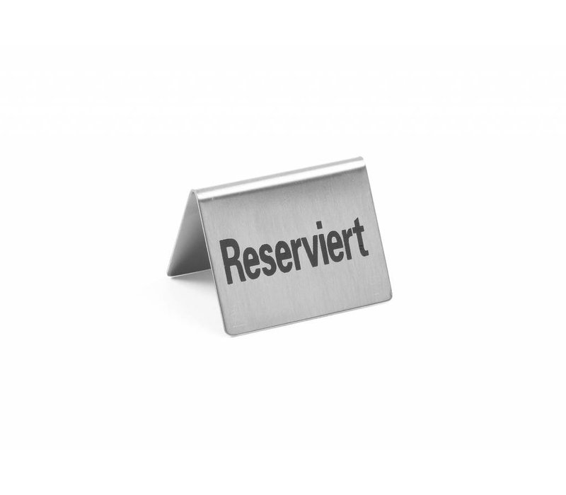Hendi Tafelstandaard rvs Reserviert - 52x40mm set 4