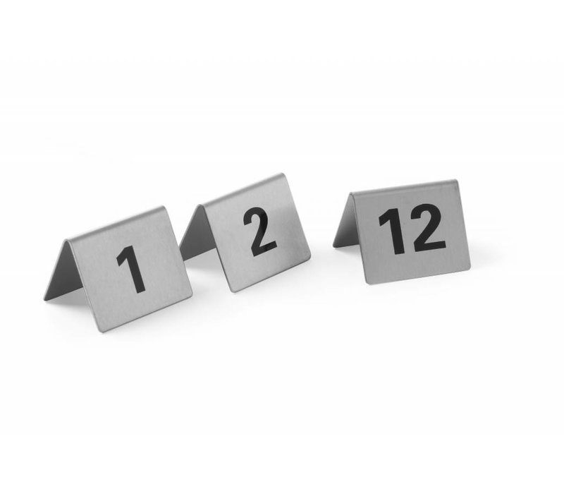 Hendi Table Stand numbers 49-60 - stainless steel 55x52x35 mm set 12