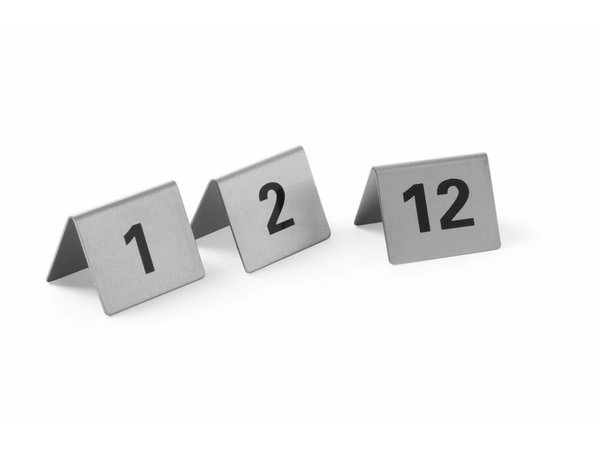 Hendi Table Stand Zahlen 61-72 - Edelstahl 55x52x35 mm 12