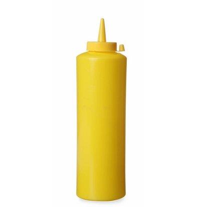 Hendi Dispenser bottle Yellow | 35 cl | PE cap PC | 55x (H) 205mm