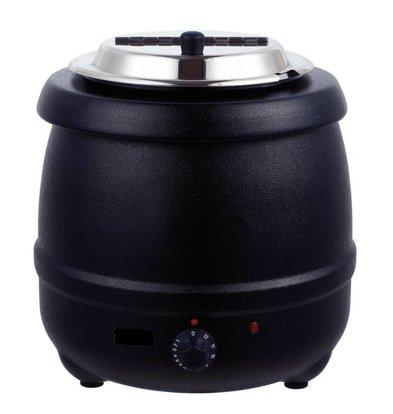 Bistro Elektrische Soepketel 10 Liter Zwart - XXL Aanbieding