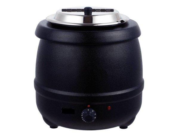 Bistro Elektrische Suppenkessel 10 Liter Schwarz - XXL Angebot